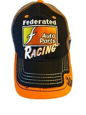 """Federated Auto Parts Racing Adjustable Truckers cap Hat """"Out The Door In 4� Oryx"""