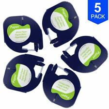 5 PK Replace DYMO LetraTag  LT-100T LT-100H 91330 10697 Self-Adhesive 1/2 Inch