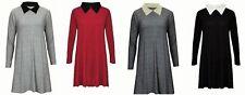 Unbranded Collar Patternless Mini Dresses for Women
