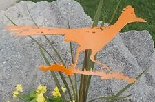 Roadrunner Orange metal bird wildlife garden yard lawn art w/ detachable stake