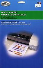 Testors  Decal Paper 6 White  Model No, 9202