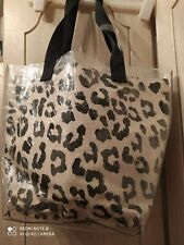 Handbag, (see through) Plastic outer bag , with Leopard print inner bag. New