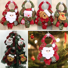 4Pcs Lovely Christmas Santa Claus Ornaments Party Xmas Tree Hanging Decoration