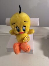 Vintage 1971 Tweety Bird Stuffed Plush Warner Bros Looney Tunes Hang Tag 10 Inch