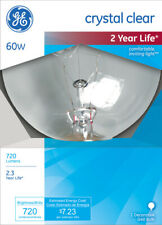 GE  60 watts G40  Globe  Incandescent Bulb  E26 (Medium)  Crystal Clear  1 pk