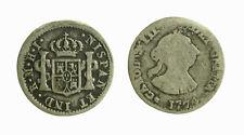 s281_25) Carolus III Perù LIMA - 1/2 Reales 1774 MI NISPAN UNKNOWN ERROR - FINE