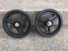 "Skyway Tuff Wheel 3-spoke Mag BMX Wheels Black 12"" Set 12.5"""