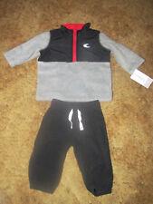 Boys Carter's Nwt 2-pc. long sleeved heather gray shirt and black pants sz 3 mo