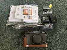 Fujifilm X-E3 (X-Trans III) Camera Body, vintage leather case, battery Fuji XE3
