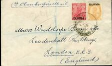 427007) Burma / Birma MiF Aufdruckmarken auf Einschreiben n. GB