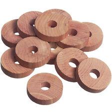 12 Pack repelente de la polilla Colgador de anillos de madera de cedro Anillos de Madera 100% Natural