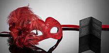 Piccola Originale veneziane Maschera occhi Maschera Con Piume Carnevale ballo in maschera