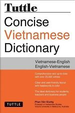 Tuttle Concise Vietnamese Dictionary Vietnamese-English English- by Giuong Phan