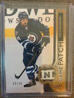 2014-15 Upper Deck UD Game Patch- 3 letters! Zach Bogosian Winnipeg Jets SSP /15