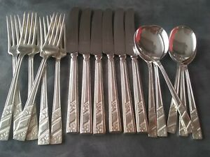 SILVER ROSE Pattern VINERS SHEFFIELD Silver Plated Table Cutlery.18 PIECES.