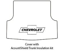 1953 54 Chevy SW Panel Delivery Trunk Rubber Floor Mat Cover w/ G-010 Bowtie