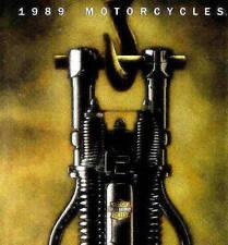 1989 HARLEY-DAVIDSON BROCHURE -SPORTSTER-SUPER GLIDE-LOW RIDER-SOFTAIL-ELECTRA
