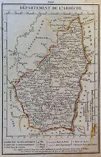 Departement De L´Ardeche - grenzkolorierter Kupferstich ? - um 1850 - (21