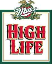 "Miller High Life Vintage Vinyl Sticker Decal 18"" full"