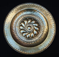 grand plat à offrandes en laiton repoussé haute époque 17ème XVII offering dish