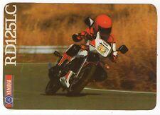 1988 Portugese Pocket Calendar Yamaha RD125LC Motorcycle Motorbike bike