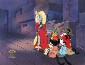Animaniacs-Yakko,Wakko,Dot, Minerva-Original Production Cel/OBG-This Pun 4 Hire