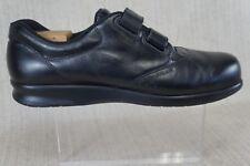 Women's SAS  USA ME TOO Black Strap On Comfort Diabetic Walking Shoes Size12 W