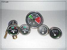 Massey Ferguson Tachometer + Temp + Oil (Male) + Fuel + Amp Gauge Set