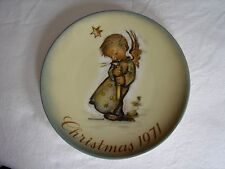 "1971 BERTA HUMMEL CHRISTMAS PLATE 7 3/4"" LIMITED FIRST EDITION  VERY GOOD COND"