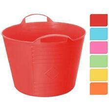 Ceste salvaspazio rossi plastici per la casa