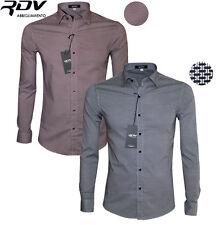 Camicia Slim Fit Uomo Manica Lunga S M L XL XXL  Rdv