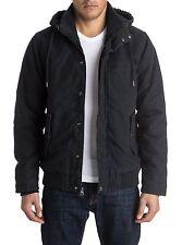 NEW Quiksilver Men's L LARGE LG Everyday Brooks Hooded Jacket BLACK COAT $99.50