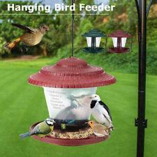 Waterproof Plastic Hanging Wild Bird Feeder Feeding Garden Outdoor Decors