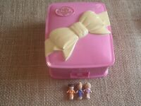 Vintage Bluebird Polly Pocket Star Bright Dinner Party Compact Complete V2