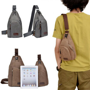 Mens Chest Sling Bag Cycling Sports Shoulder Crossbody Daily Travel Backpack