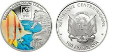 2015 Central Africa Large Color Proof 100 Francs WWF Fish/Seahorse