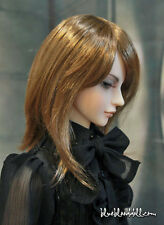 """1/3 bjd 8-9"""" doll head copper color long wig dollfie Luts Iplehouse W-JD046SM916"""