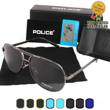 8 Colors NEW Police UV400  Men's Polarized  Sunglasses Driving Glasses Brand Box