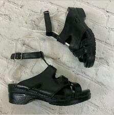 DANSKO 37 Ankle Strap SANDALS Black Shoes Clogs Mules US 6.5 - 7