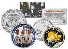 APOLLO 13 SPACE 2-Coin Set Quarter & JFK Half Dollar NASA ASTRONAUTS