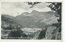 Cumbria - Cloud Shadows in the Langdale Valley - Postcard sent 1947