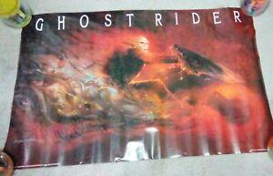 "Vintage 1992 Ghost Rider Poster 22"" x 34"" Marvel Comics"