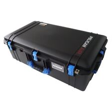 Black & Blue Pelican 1615 Air case No Foam.  With wheels.