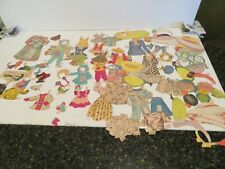 LOT OF 82  PIECES  Vintage Paper Dolls  Clothing Accessories figures lots hats
