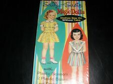Vintage 1961 Whitman Sally & Susie Magic Dolls paper doll set BONUS doll include