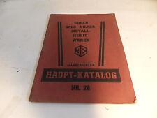 ancien catalogue Horloges Or Argent Métaux Bijou Marchandise de musique