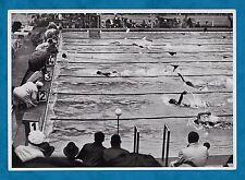 1936 BERLINO OLIMPIADI Grande Tedesco carte sigaretta 100 M a dorso Nuoto finali