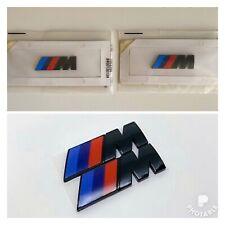 2x For BMW M Sport Emblem Gloss Black Sticker Side Wing Fender M Power Badge