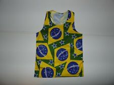 """Brazil football world cup vest, ladies mens 16.5"""" pit to pit."""