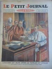 1929 PJ ACCORD SIGNE VATICAN ITALIE PAPE PIE XI CARDINAL GASPARRI MUSSOLINI